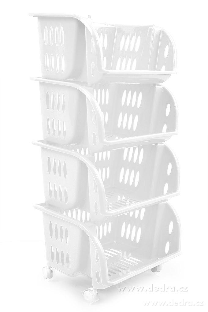 4 Piętrowy Plastikowy Regał Na Kółkach