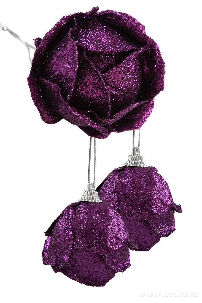 3 ks ozdobných pukov ruže