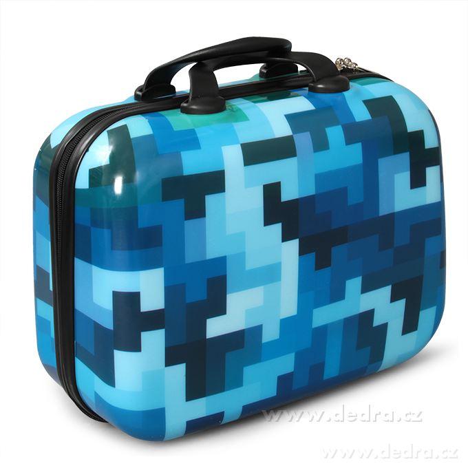 Kufor príručný menší BLUE TETRIS