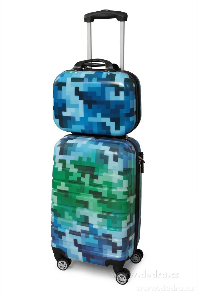 Kufor príručný väčší BLUE TETRIS