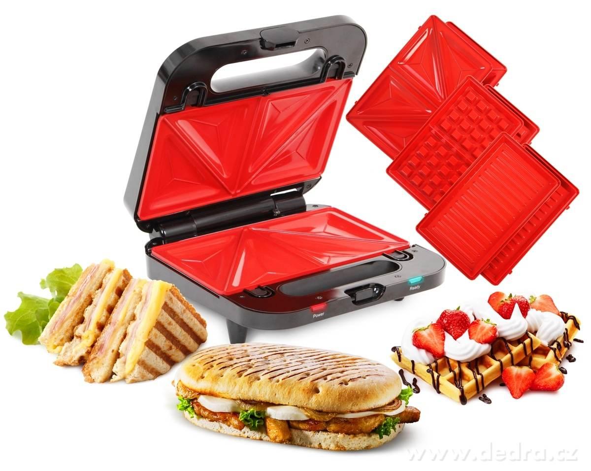 4v1 sendvičovač, vaflovač, gril, panini GRIFLOVAČ