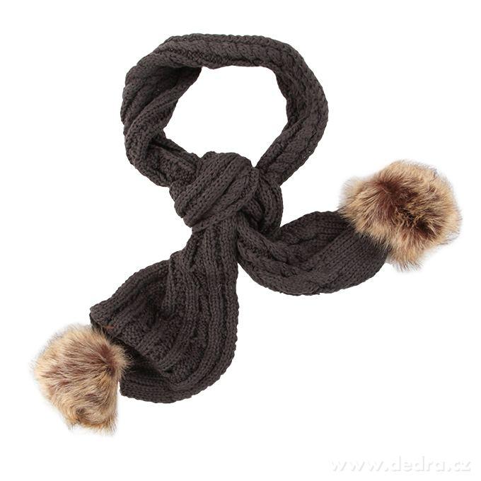 Zimný pletený šál