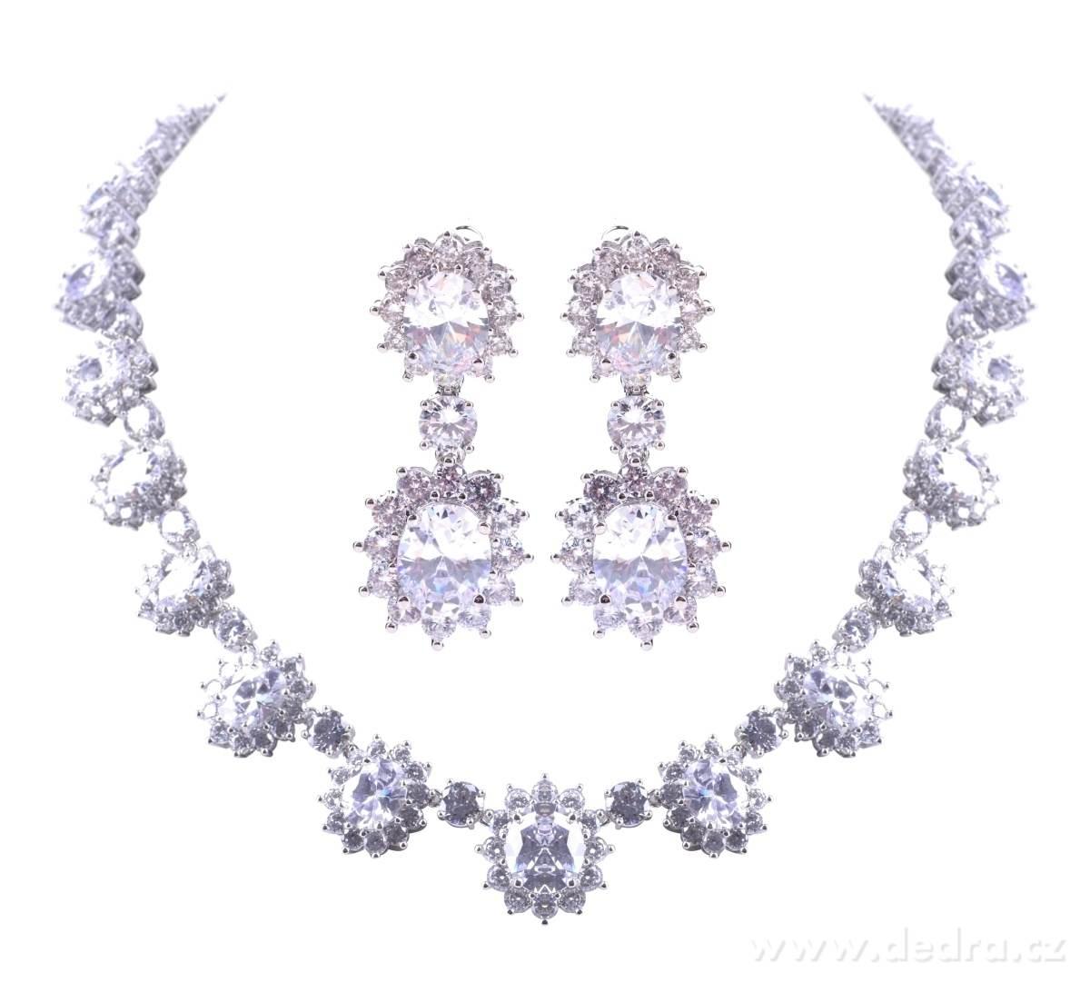 de0847e64 LUXUSNÍ SET náhrdelník a náušnice s velkými zirkony - Vaše DEDRA ...
