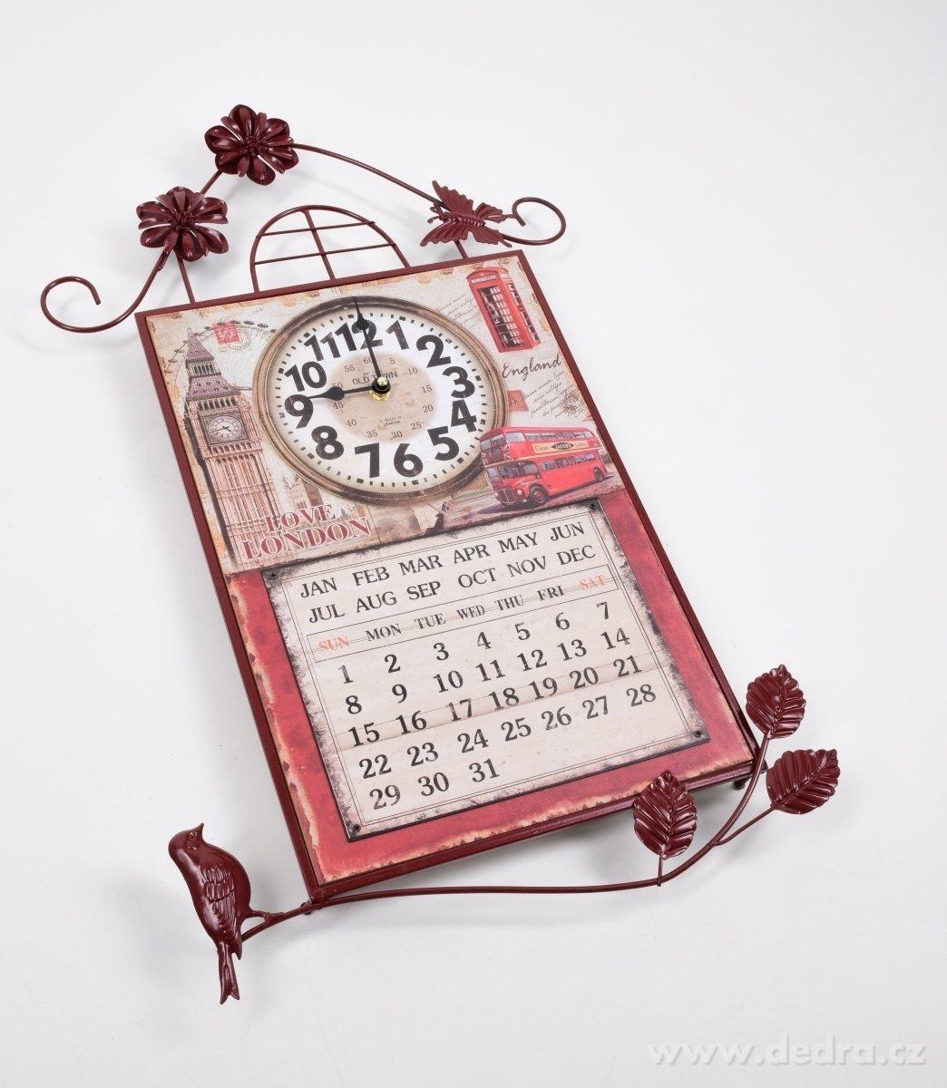 Nástenné kovové dekoratívne hodiny
