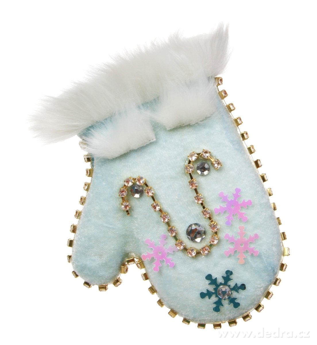 Sametová rukavica WHITE&BLUE