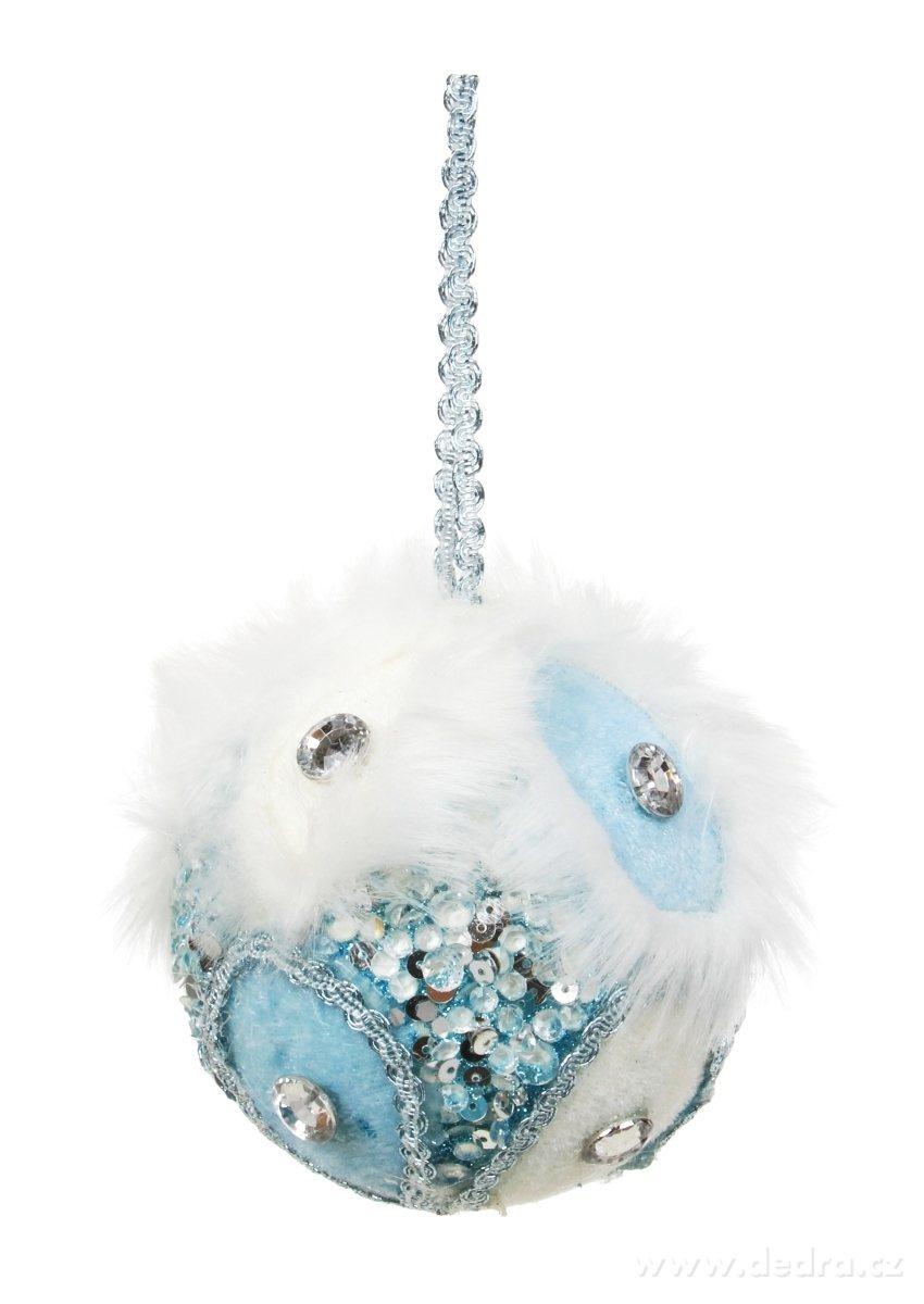 Ozdobná guľa WHITE&BLUE