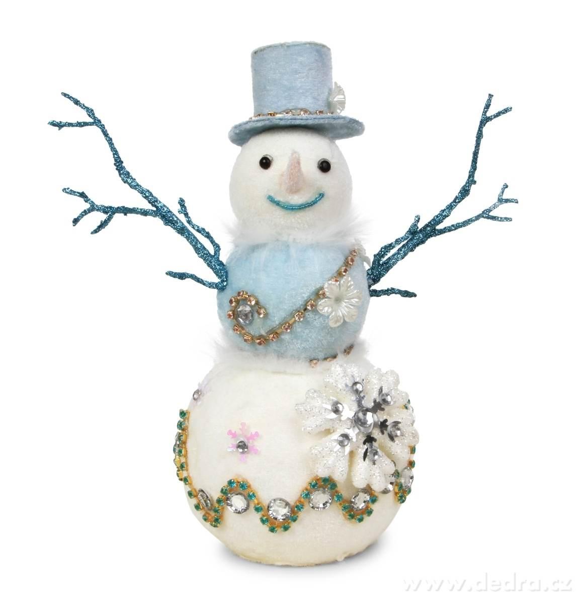 Snehuliak s klobúkom WHITE&BLUE