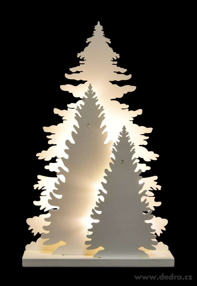 Drevenné 3 stromčeky s LED osvetlením