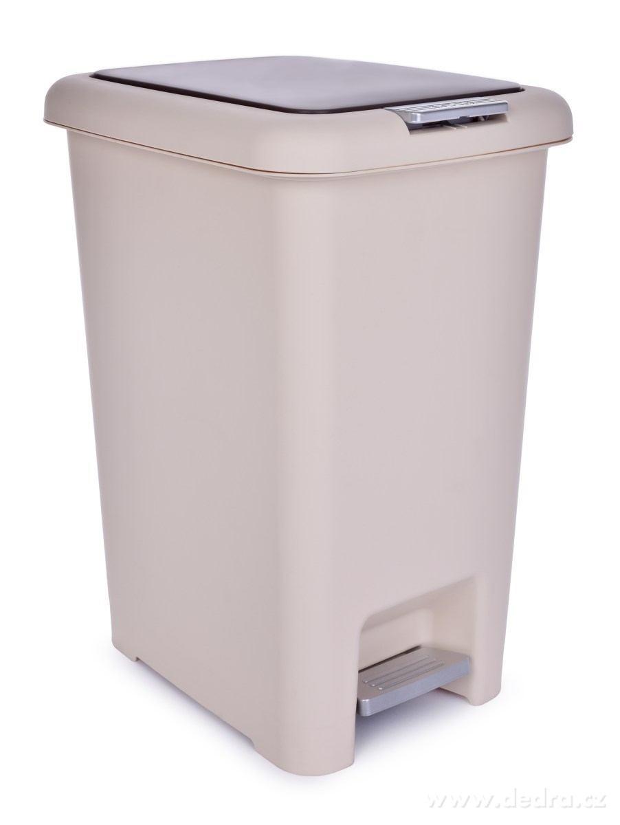 Groovy XL PUSH & STEP 30 l, duży kosz na śmieci, 29 x 39 x 50 cm EH79