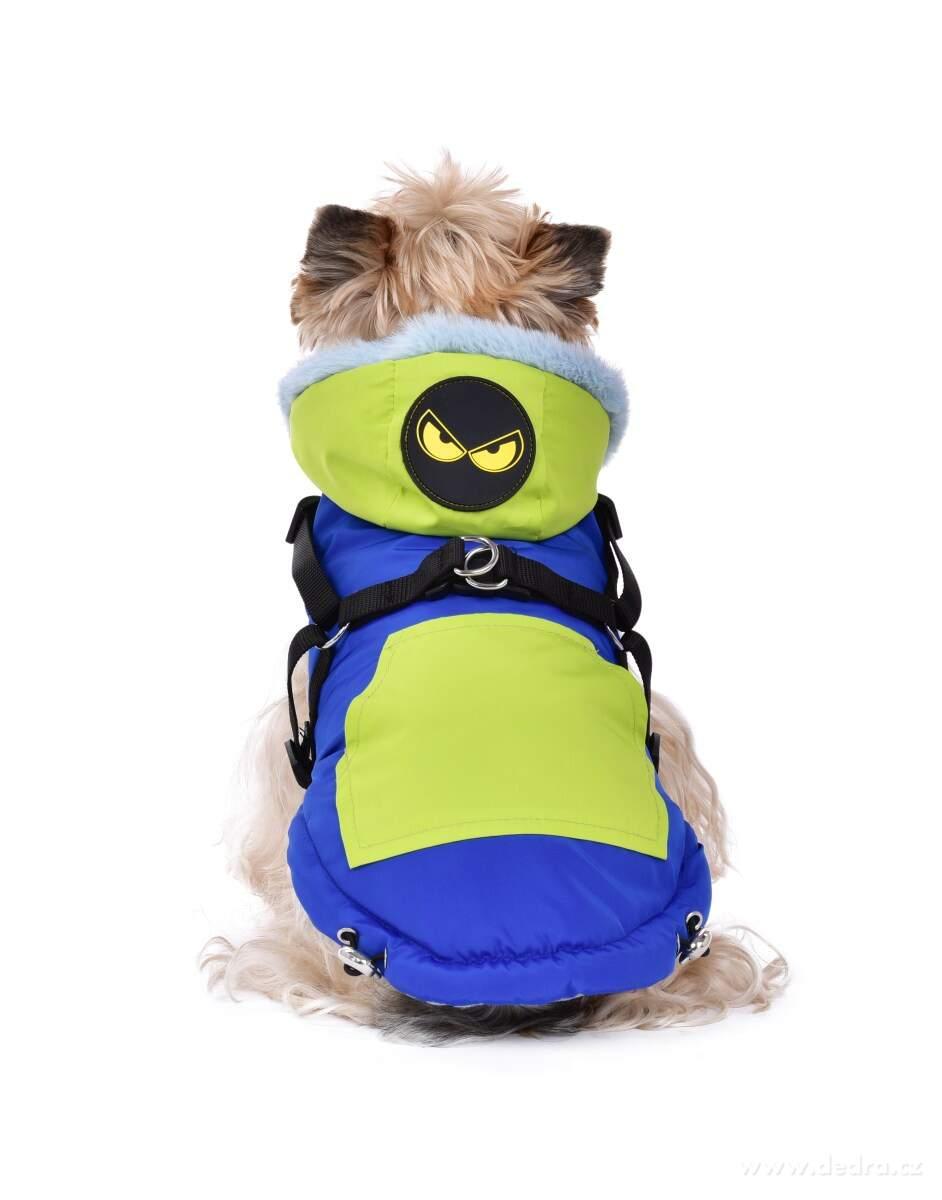 3v1 prešívaná bundička pre psíky s popruhmi a vodítkom