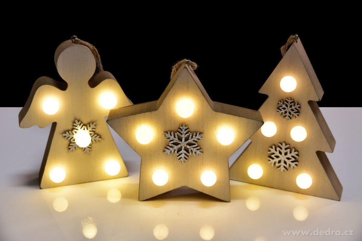 Drevená hviezda s LED osvetlením