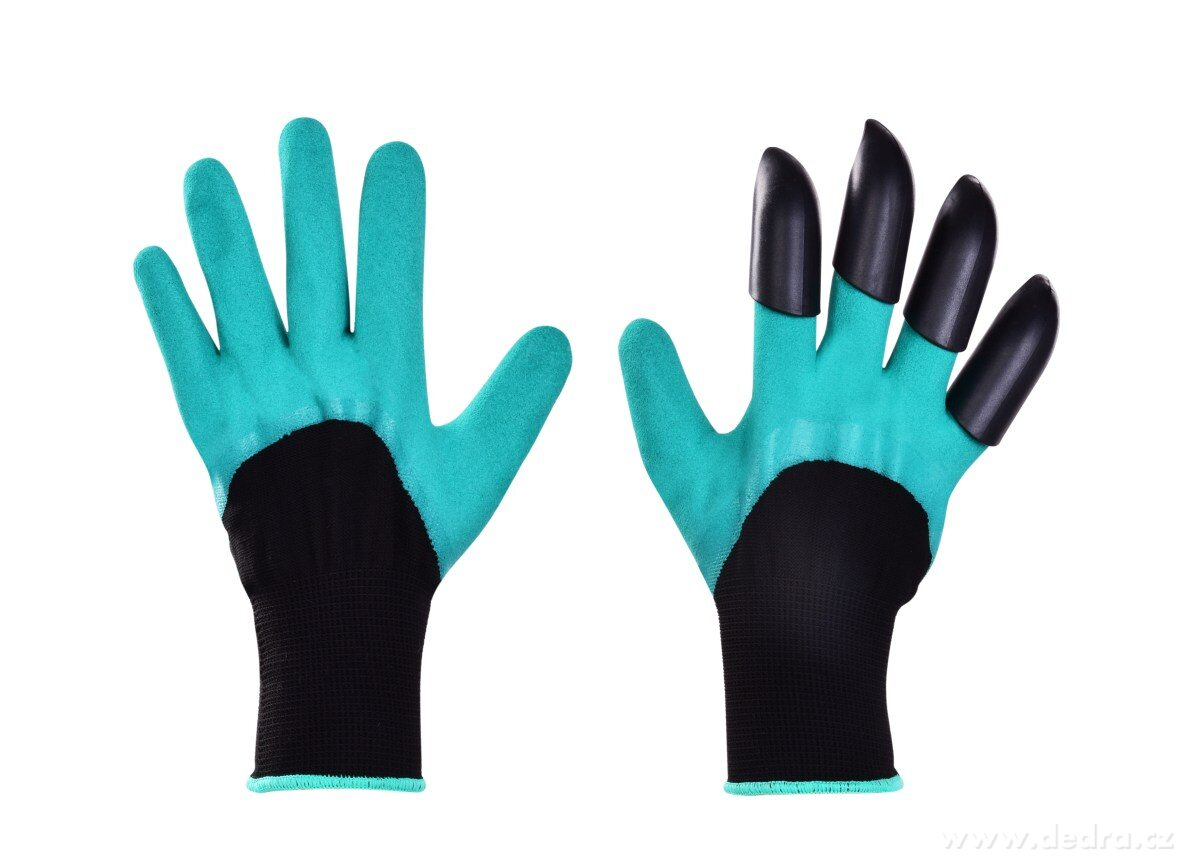 HRABAVICE pracovné rukavice so 4 pazúrmi z pevného plastu