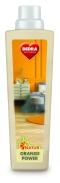Na mytí parket, dřeva a tvrdých podlah s pomerančovým olejem NATUR ORANGE POWER