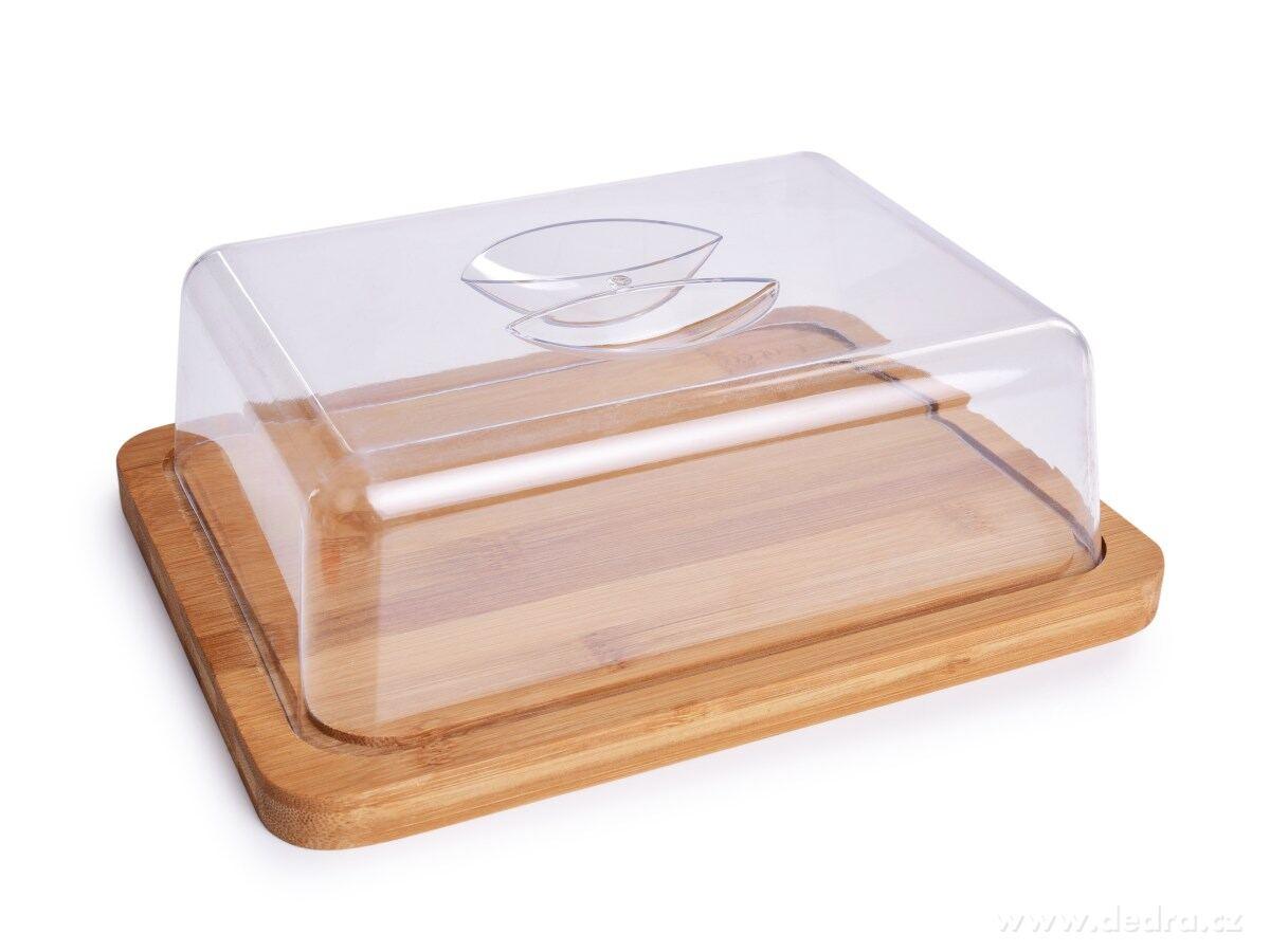 Bambusová doštička s poklopom na syry aj iné potraviny GoEco®