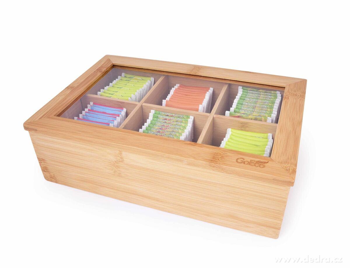 Bambusová kazeta VEĽKÁ ČAJOVŇA na sáčky čaju GoEco®