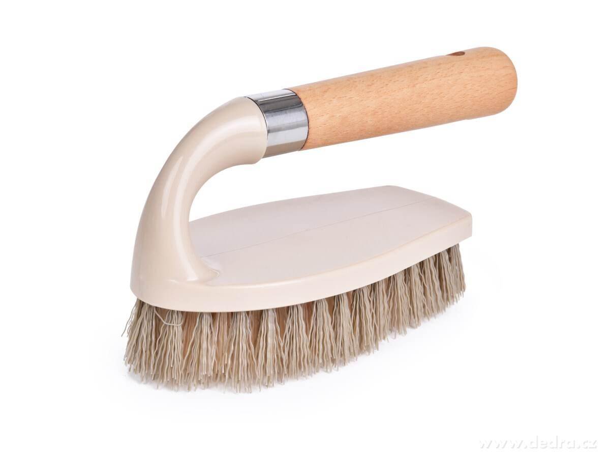 Kefa na čistenie a upratovanie s rukoväťou z bukového dreva NATURAL LOOK