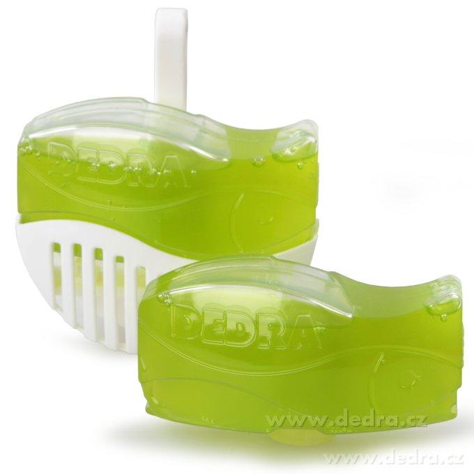 AQUARIUM - závesný parfém Green apple do WC + náhradná náplň ZDARMA