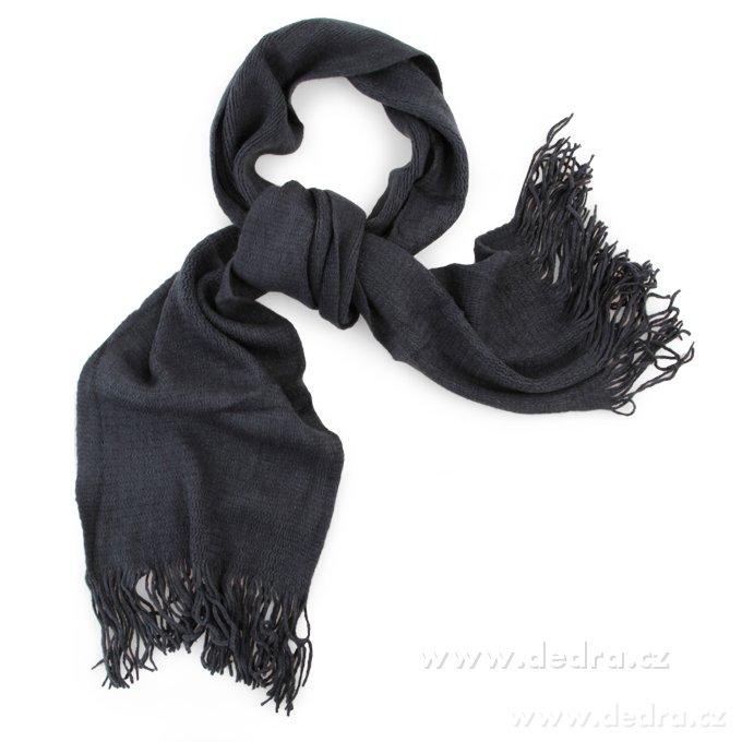 Pletený jednofarebný šál